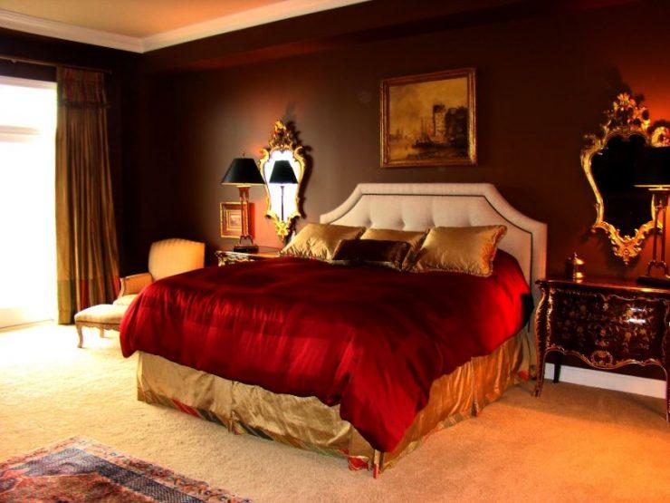 Коричневая спальня 15