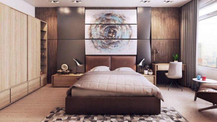 Коричневая спальня 71