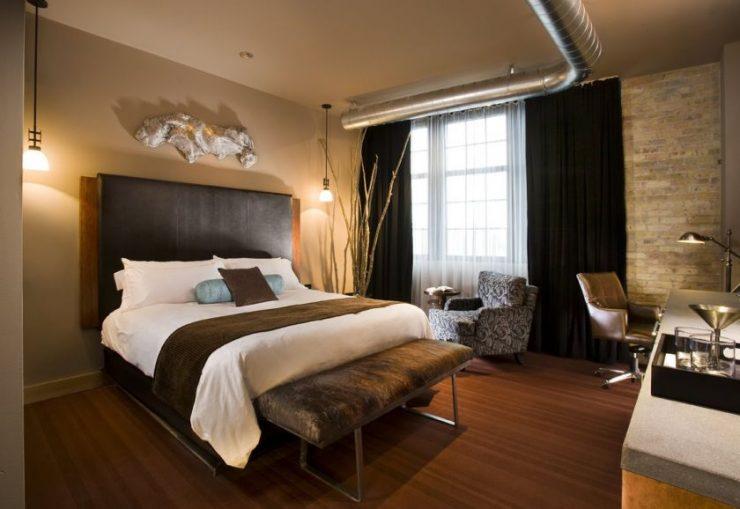 Коричневая спальня 55