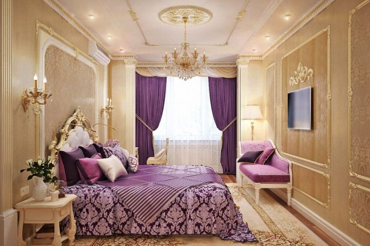 Лиловая спальня 12