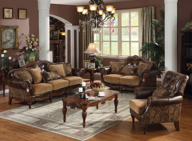 Traditional living room sets furniture