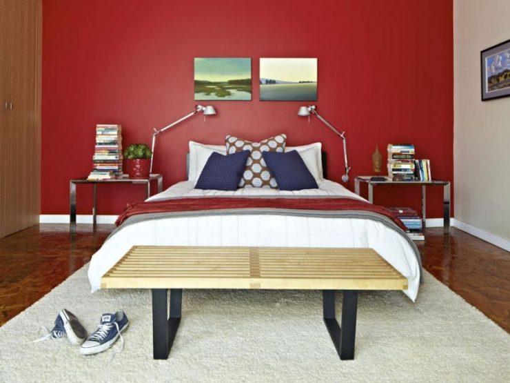 Сочетание цвета в спальне