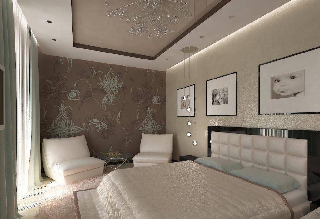 натяжных спальне в фото новосибирск потолков
