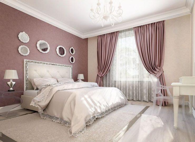 фото современные шторы в спальню
