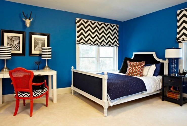 Сочетание цвета в спальне 12