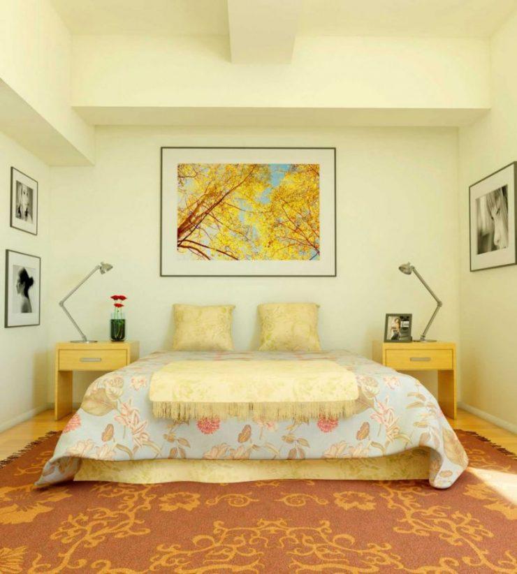 Сочетание цвета в спальне 29