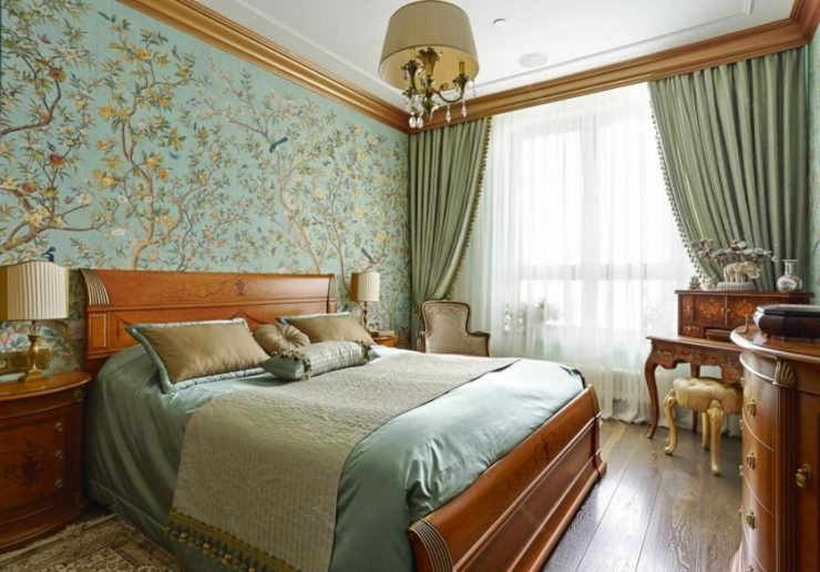 Сочетание цвета в спальне 24