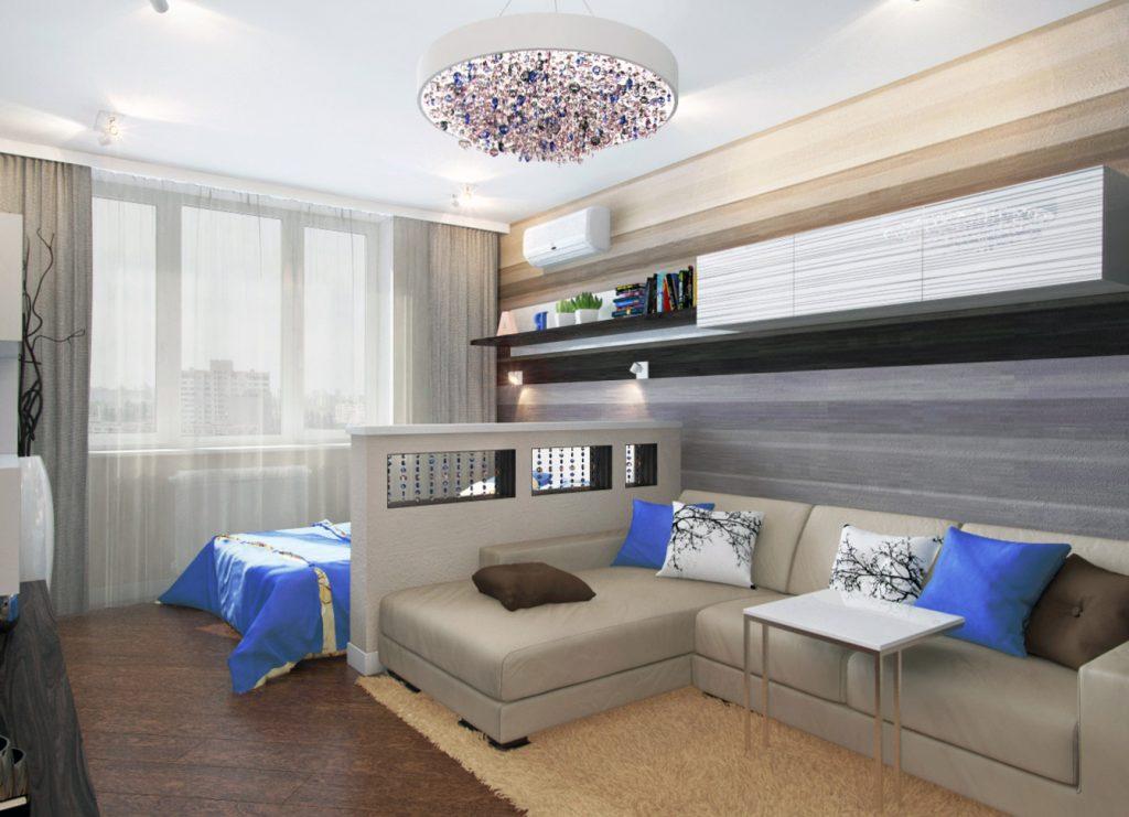 Интерьер спальня гостиная фото