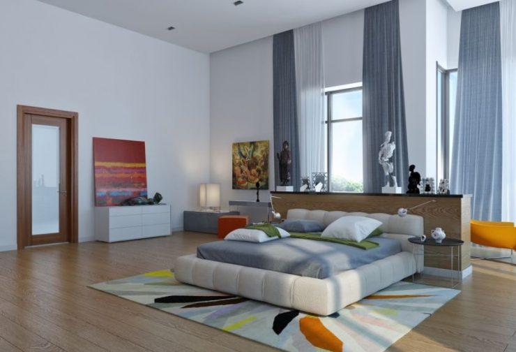 Современные спальни 14