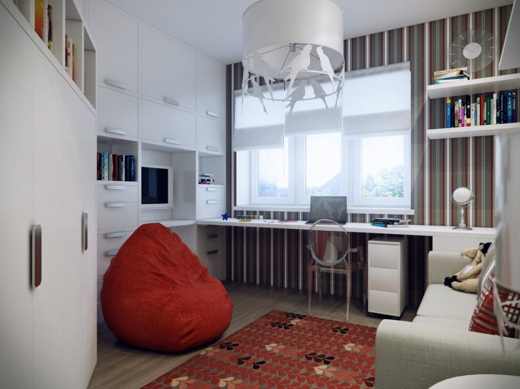 Стол у окна в спальне фото