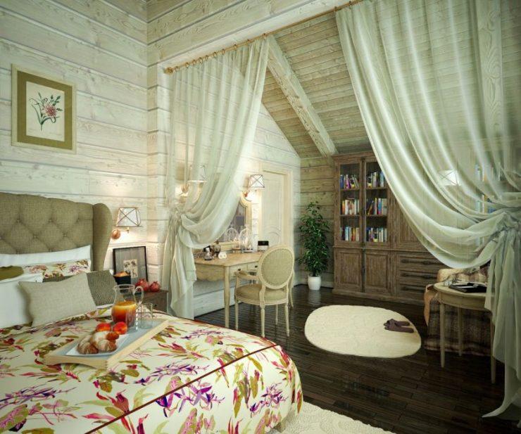 schlafzimmer durch vorhang trennen