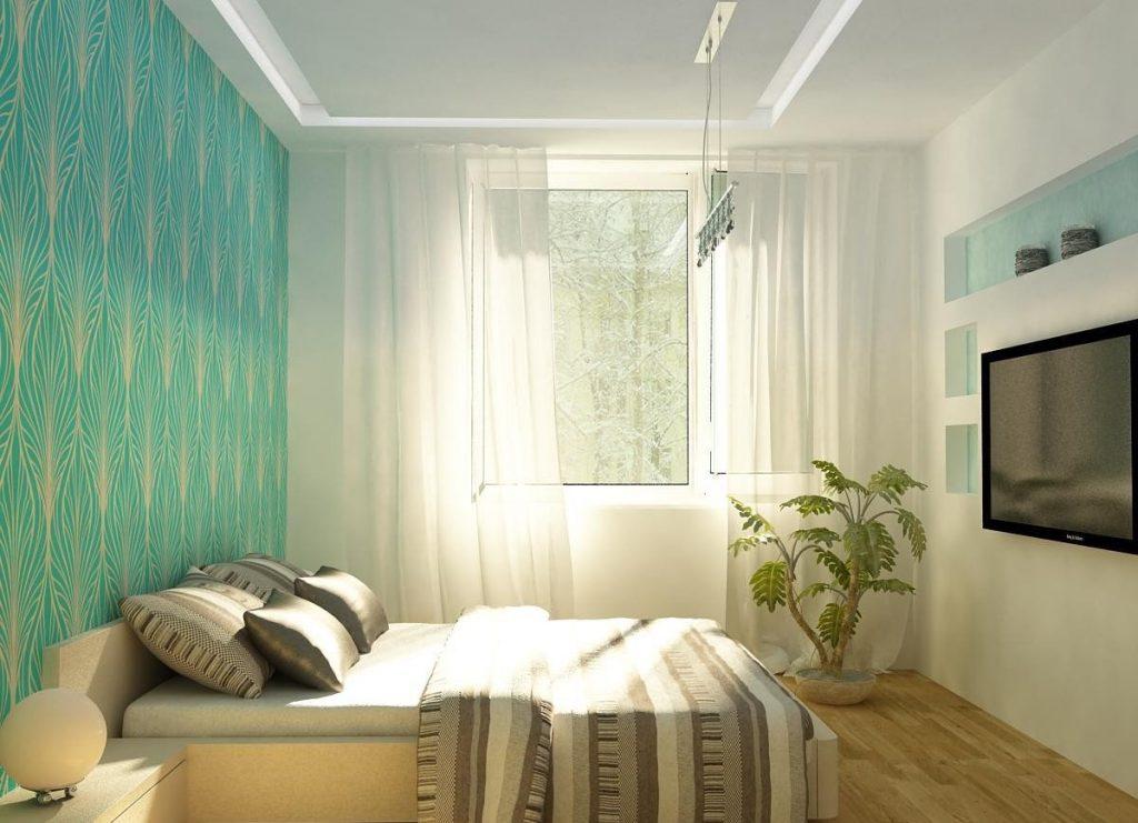 Дизайн спальни в маленькой комнате с