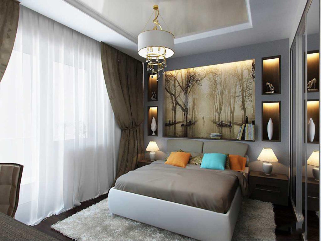 Спальня дизайн 7 метров