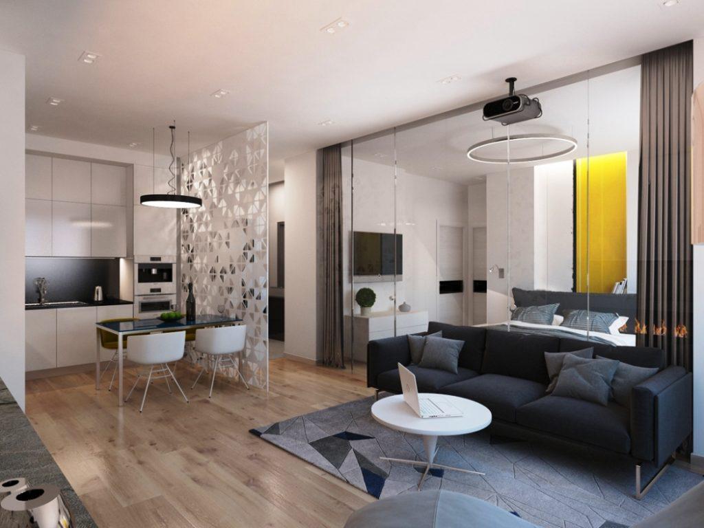 Интерьер квартиры 50 кв метр фото 2016 современные идеи