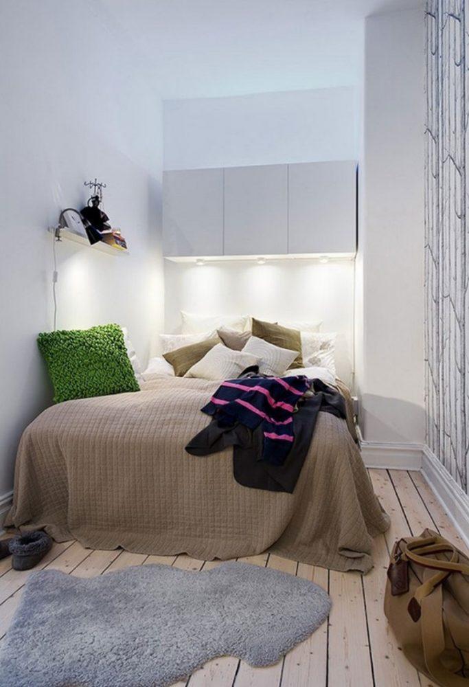 Спальня в однокомнатной квартире 33