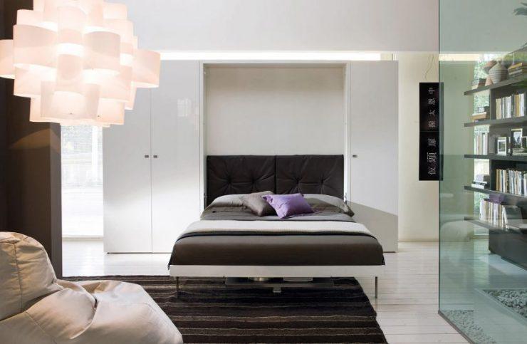 Спальня в однокомнатной квартире 34