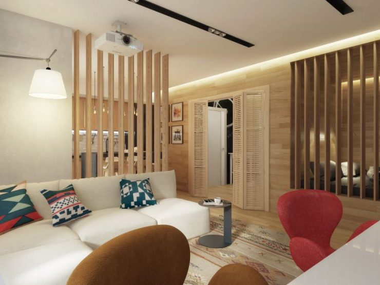 Спальня в однокомнатной квартире 35