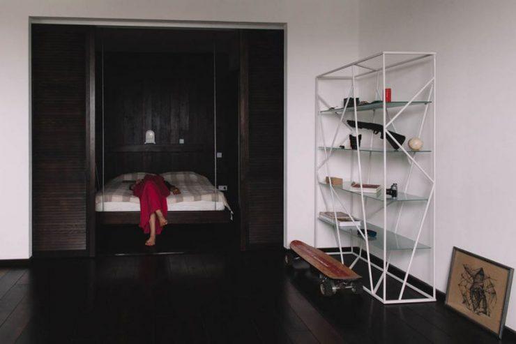 Спальня в однокомнатной квартире 37
