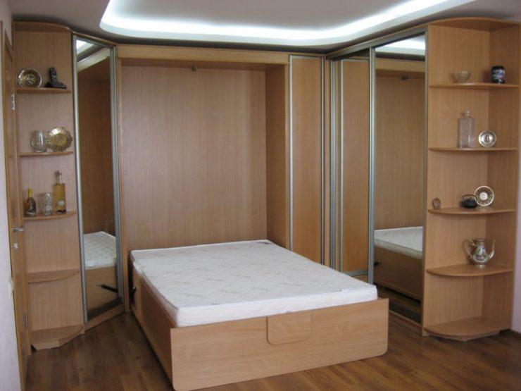 Спальня в однокомнатной квартире 74
