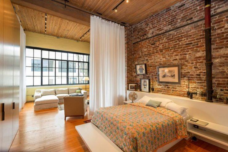 Спальня в однокомнатной квартире 52