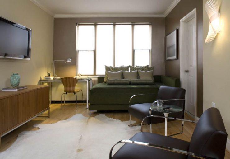 Спальня в однокомнатной квартире 50
