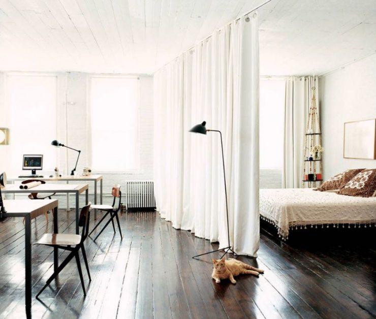 Спальня в однокомнатной квартире 61