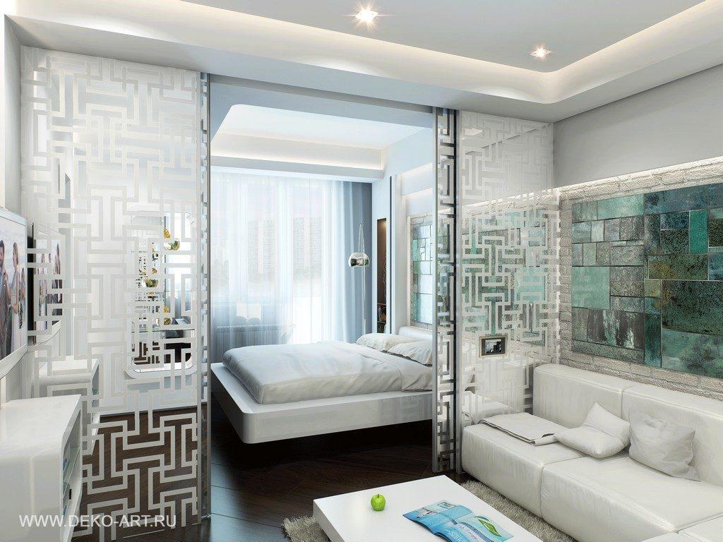 Спальня в однокомнатной квартире - 100 фото стильно и соврем.