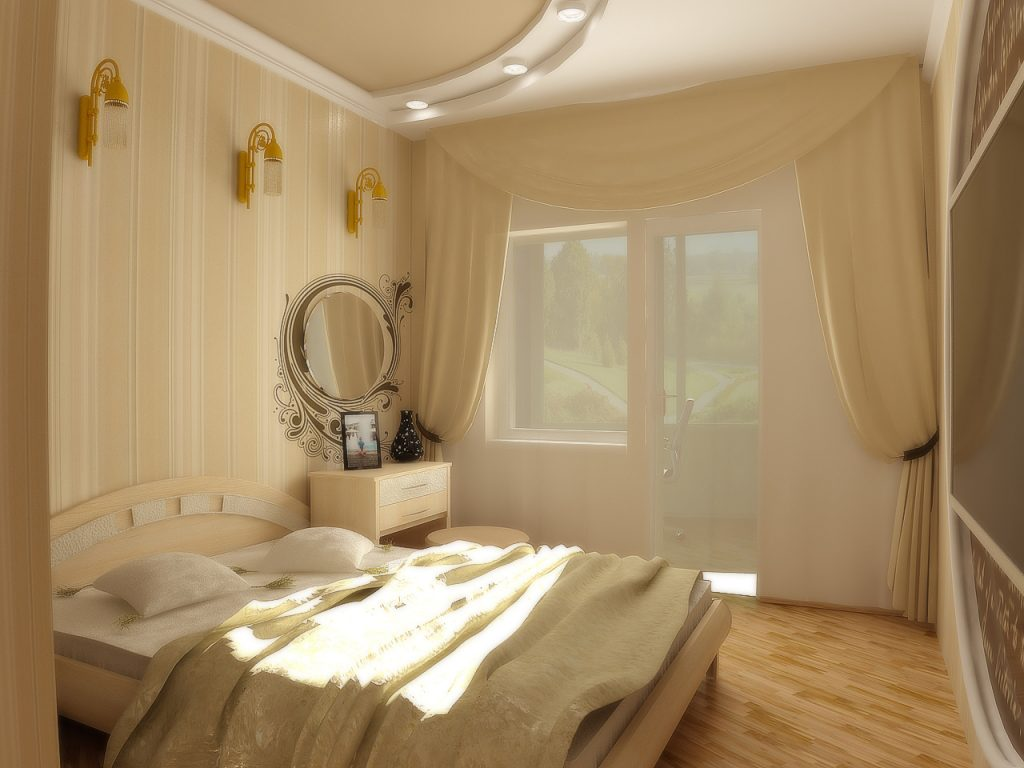 Спальни светлая мебель дизайн