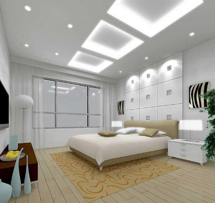 Дизайн спальной комнаты 14 кв.м 2017-2018 современные идеи