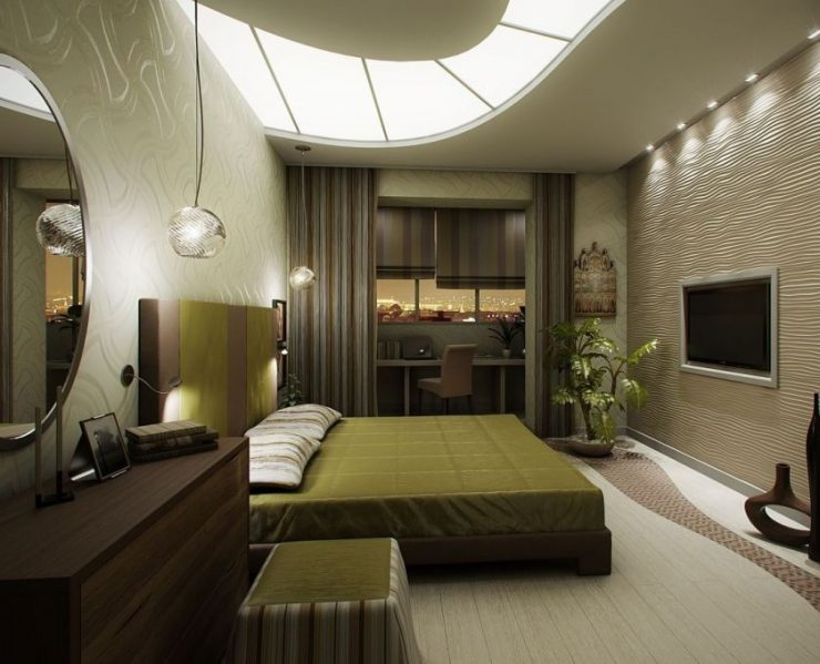 узкая спальня 75 фото вариантов оформления в интерьере