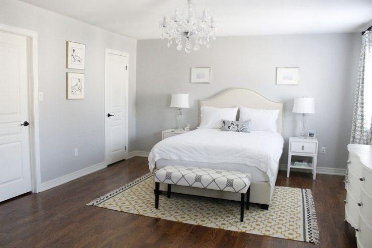 Нежная белая спальня
