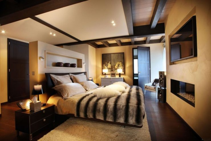 Коричневая спальня 58