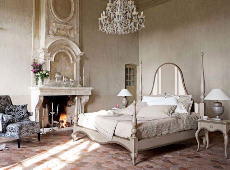 Декор стены в спальной комнате 21