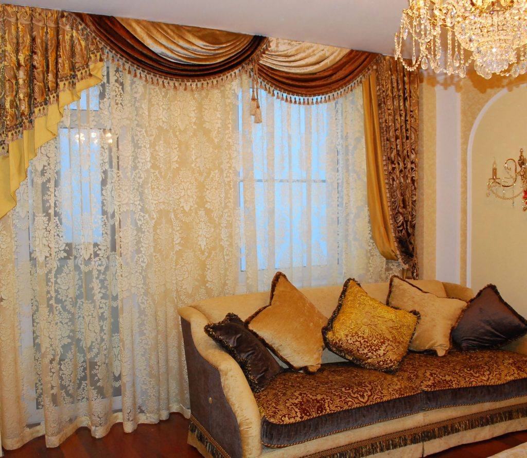 Как сшить шторы своими руками для гостиной: фото, модели