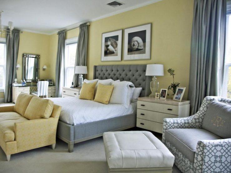Сочетание цвета в спальне 35
