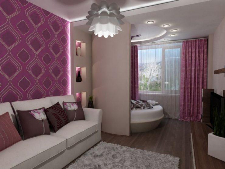 Спальня в однокомнатной квартире 00