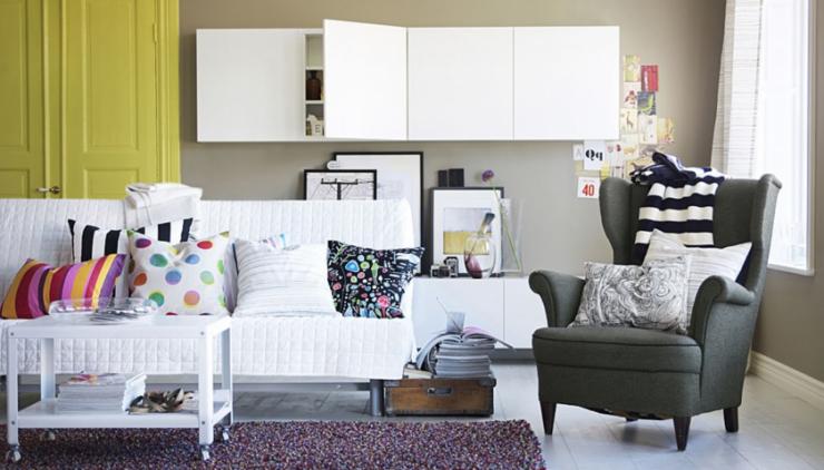 Гостиные ИКЕА: ТОП-100 фото лучших новинок из последнего каталога IKEA