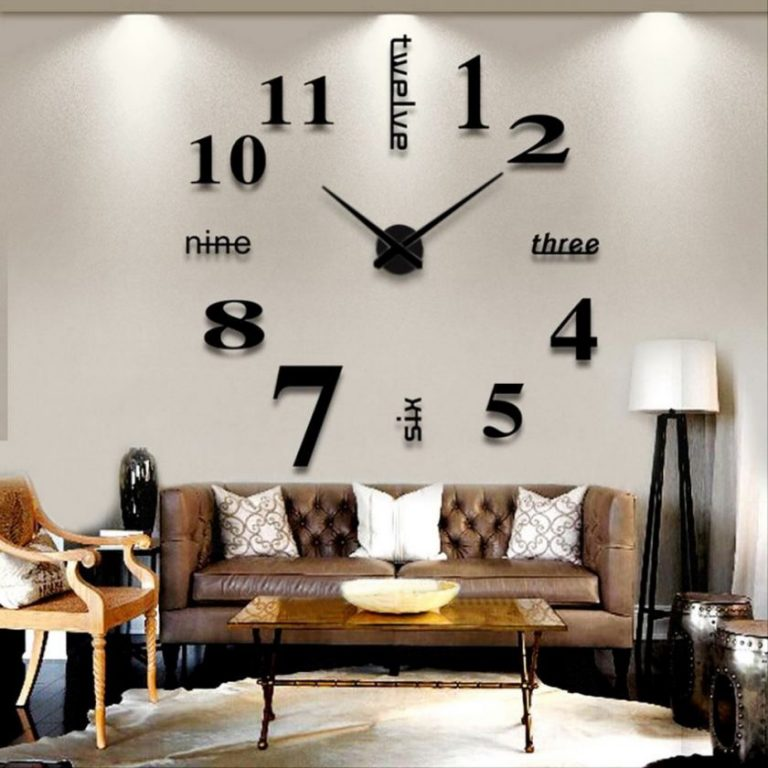 Часы для гостиной своими руками 79