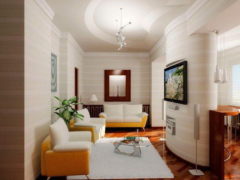 Дизайн проходных гостиных комнат 96
