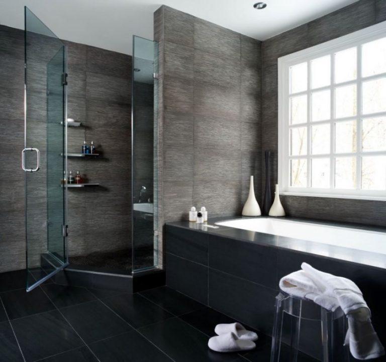 Modern bathroom shower tile