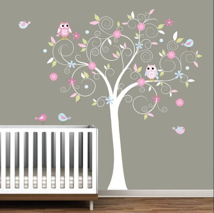 Аппликация деревья на стене