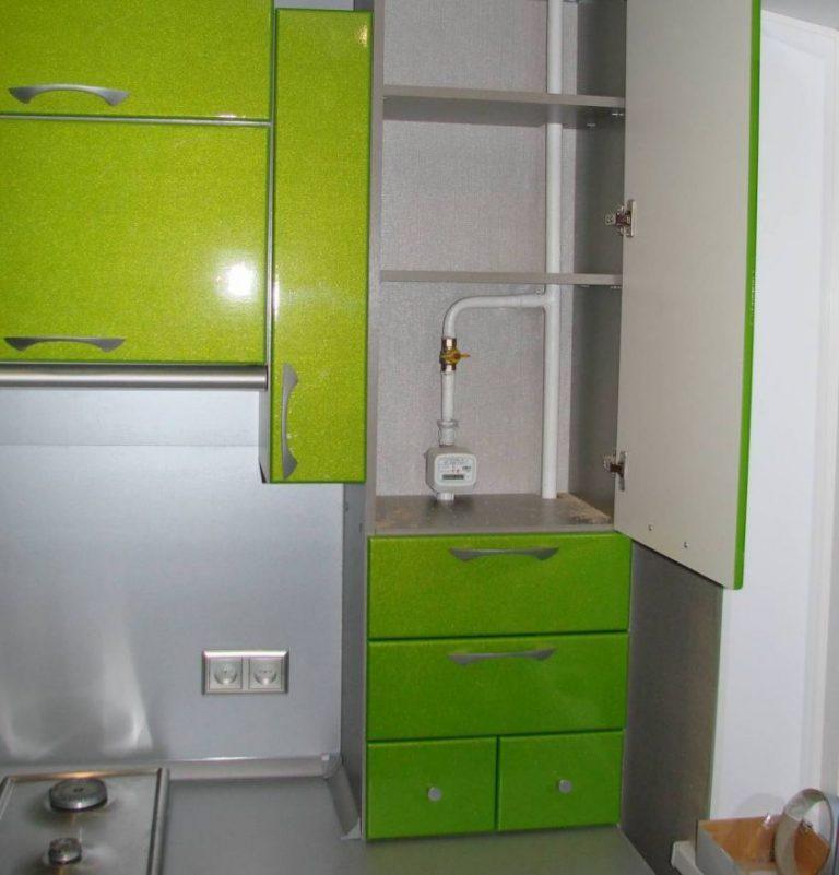 Короб для газовой трубы на кухне своими руками фото