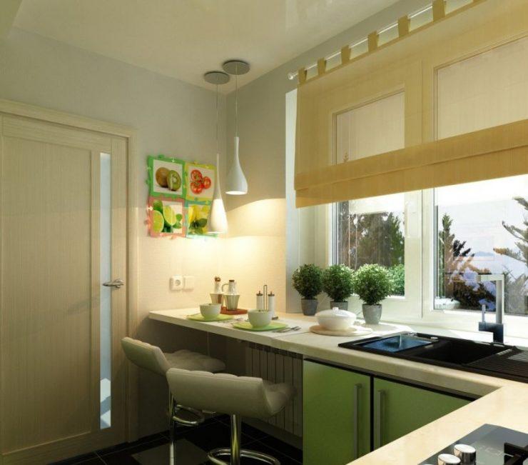 Кухонный стол у окна фото