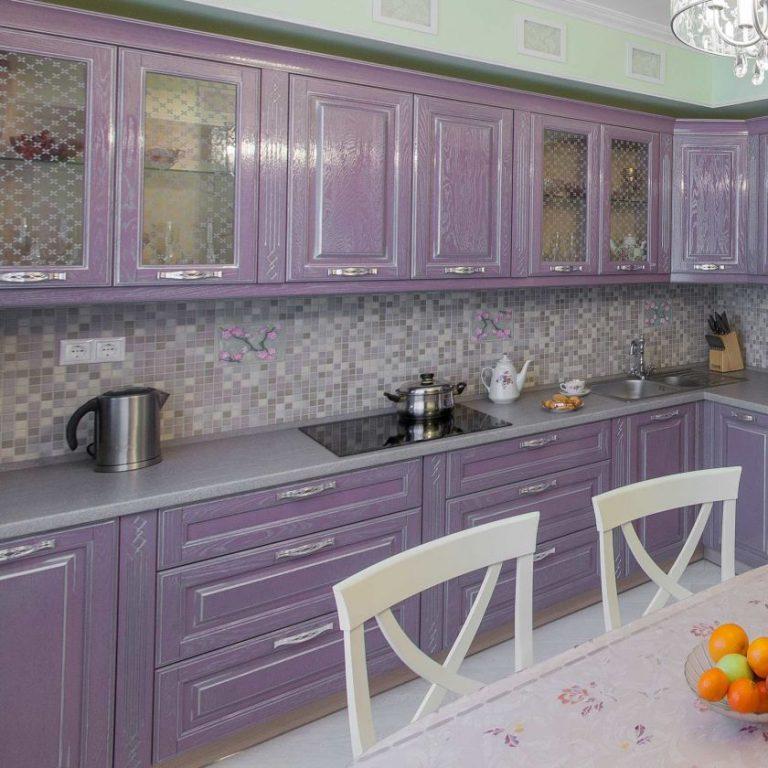 Кухни серо сиреневого цвета