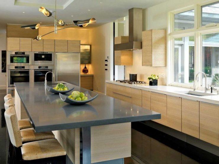 кухня в частном доме 100 фото идей модного и современного дизайна
