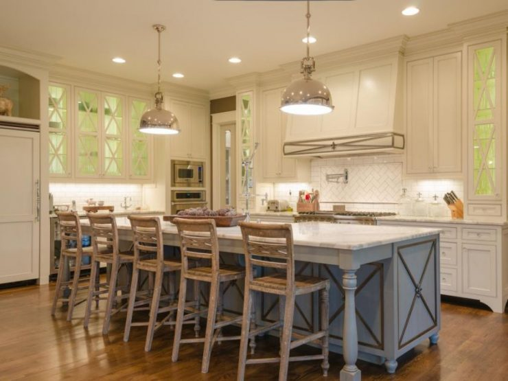 Уютная кухня своими руками в частном доме 393