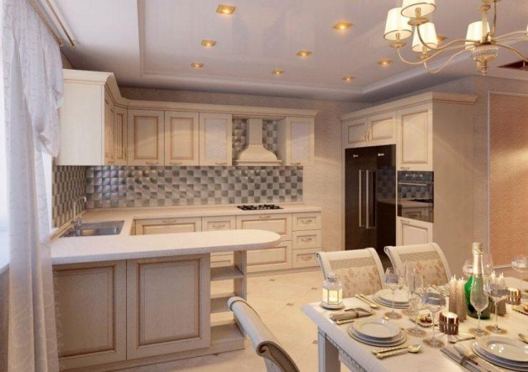 Уютная кухня своими руками в частном доме 96