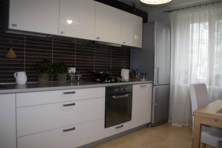 Дизайн прямой кухни 9 кв м