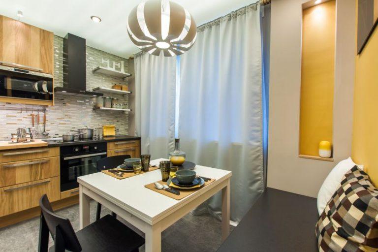 Интерьер кухни 10 кв фото