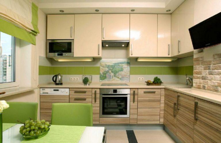Дизайн прямая кухни 9 квм